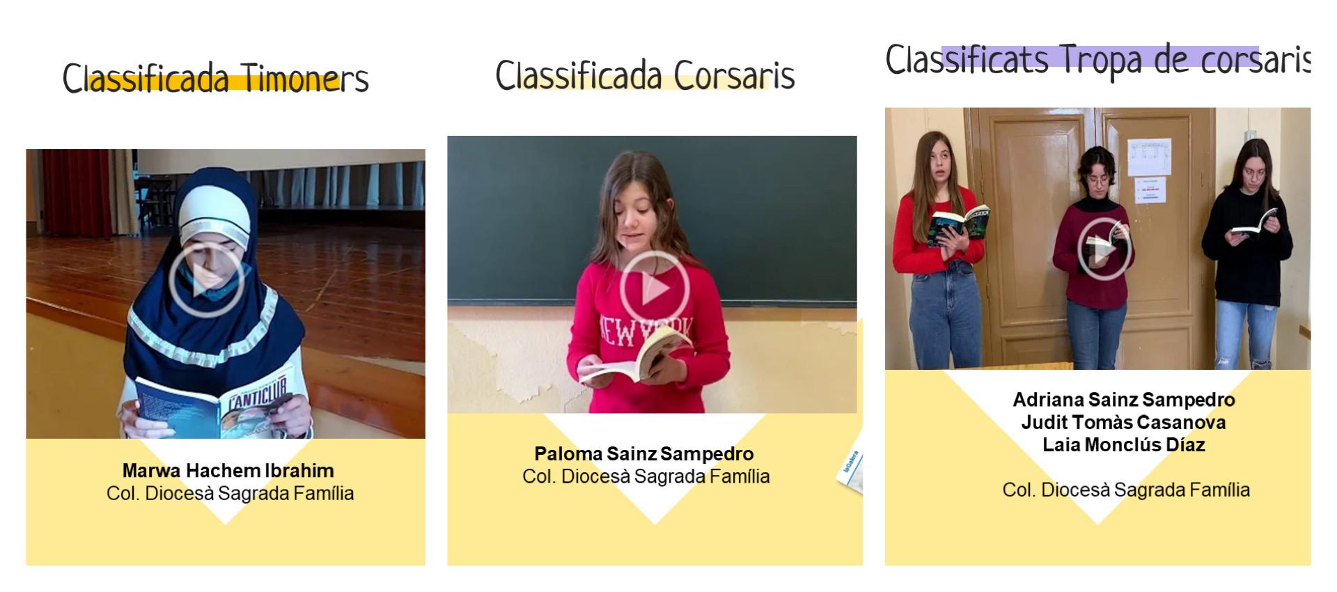 Alumnes classificades al Certamen de Lectura en Veu Alta